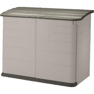 com : Rubbermaid Horizontal Storage Shed, 32-cubic ft : Bicycle Shed