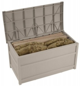Suncast deck box storage