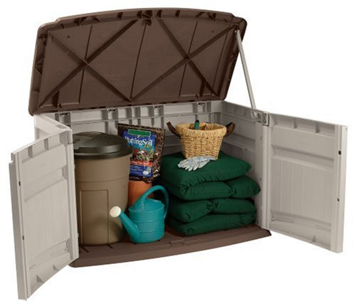 suncast garbage can storage shed review - GS2000
