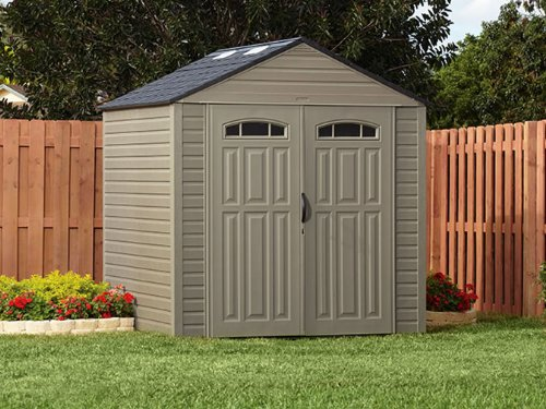 Rubbermaid roughneck x large storage shed review outdoor for Large backyard sheds